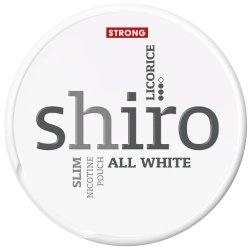 Shiro Licorice Strong Slim All White - Snussidan