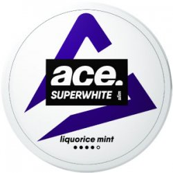 Ace Liquorice Mint All White Portion - Snushallen