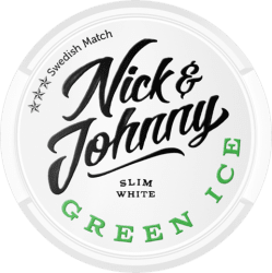 Nick and Johnny Green Ice White Slim - Snushallen