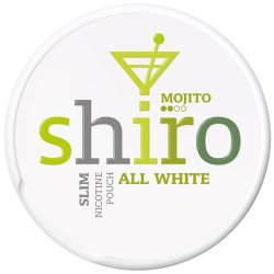Shiro All White Slim Mojito - Snushallen