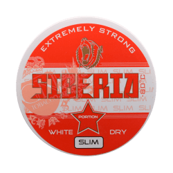 Siberia -80 Degrees White Dry Slim Portion - Snushallen