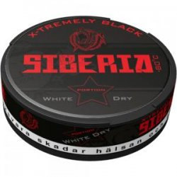 Siberia -80 Black White Dry Portion - Snussidan