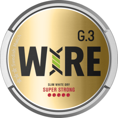 G.3 WIRE Slim White Super Strong - Snushallen