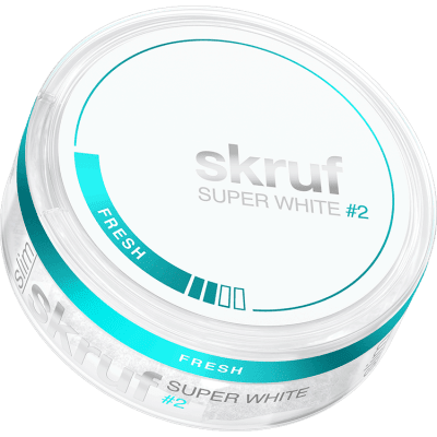 Skruf Super White Slim Fresh #2 - Snushallen